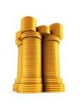 Kontrollturm des symbolischen Geldes Stockfotos