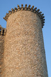 Kontrollturm des Torija-Schlosses Stockbilder