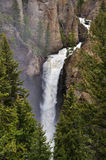 Kontrollturm fällt Wasserfall Stockfotografie