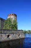 Kontrollturm im Olavinlinna Schloss Lizenzfreie Stockfotografie