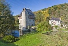 Kontrollturm im Wasser, Belgien lizenzfreie stockfotos