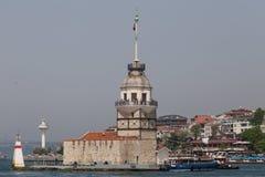 Kontrollturm Istanbul die Türkei der Maids Stockbilder