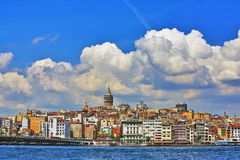 Kontrollturm Istanbul-Galata Stockbilder