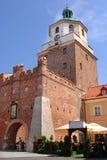 Kontrollturm in Lublin, Polen Stockbild