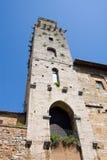 Kontrollturm San-Gimignano stockbilder