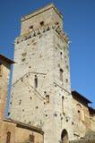 Kontrollturm in San Gimignano, Italien Lizenzfreie Stockfotos