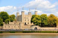 Kontrollturm-Schloss in London stockbilder