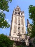Kontrollturm in Sevilla Stockfoto