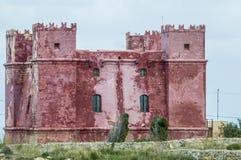Kontrollturm St. Agathas in Malta Lizenzfreie Stockfotografie