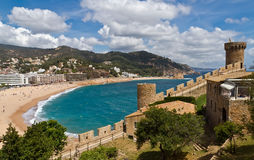 Kontrollturm Tossa De Mrz, Spanien Stockfotografie