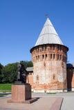 Kontrollturm und Denkmal Lizenzfreie Stockbilder