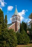 Kontrollturm und Kathedrale Stockfotografie