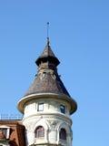 Kontrollturm von einem alten Gebäude Stockbild