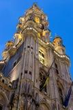 Kontrollturm von Rathaus des großartigen Platzes, Brüssel lizenzfreie stockfotos