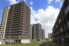Kontrollturmblock-Ratsgehäuse in Großbritannien Stockbilder