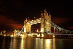 Kontrollturmbrücke in London. lizenzfreies stockbild