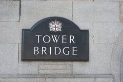 Kontrollturmbrücke London Stockfotografie