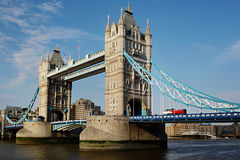 Kontrollturmbrücke in London Stockfoto