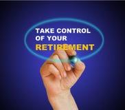 kontrolna emerytura bierze twój Obrazy Royalty Free