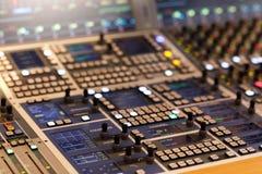 Kontrolna powierzchnia audio produkci konsola zdjęcia royalty free
