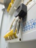 kontrolnego klucza nowa panelu władza fotografia stock