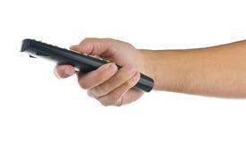 kontrolnej ręki daleki biel Zdjęcie Stock