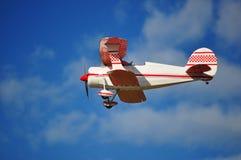 kontrolny biplanu pilot Zdjęcia Stock
