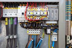 kontrolny elektryczny panel obrazy stock