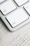 Kontrolny klucz na Komputerowej klawiaturze zdjęcia stock