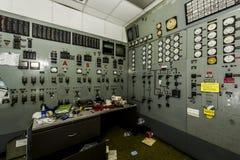 Kontrolny pokój Ohio - Zaniechana elektrownia - Obraz Stock