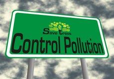 kontrolny polluation save drzewa Zdjęcie Stock