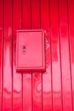 Kontrolny pudełko rolkowy metalu drzwi Obrazy Royalty Free