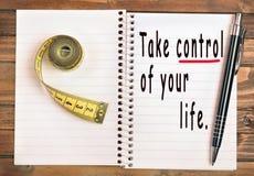kontrolny życie bierze twój Zdjęcie Royalty Free