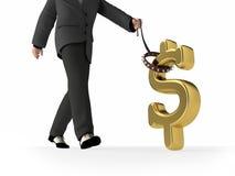 kontrolować pieniądze ilustracja wektor