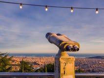 Kontrolowany teleskop na obserwacja pokładzie przegapia Eur obraz royalty free