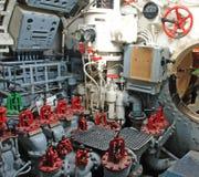 kontroluje izbową łódź podwodną Obrazy Royalty Free