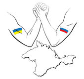 Kontroverse über Krim 2 Stockfotos