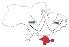 Kontroverse über Krim 1 Stockfotos