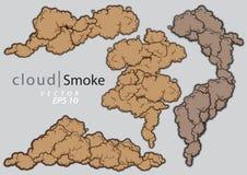 Kontrpar chmury ustawiać Kreskówki dymna wektorowa ilustracja ilustracja wektor