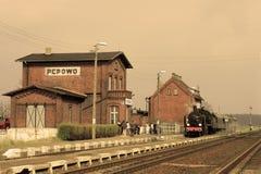 kontrpara stary retro pociąg Obrazy Stock