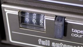 Kontuar audio kaseta w taśma pokładu pisaku jest płodozmienny zdjęcie wideo