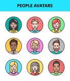 Konturów avatars ludzie Zdjęcie Royalty Free