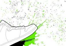 konturów buty Zdjęcie Stock