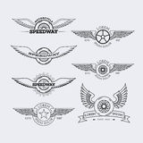 Konturów logowie ustawiający royalty ilustracja