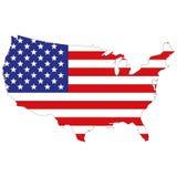 Konturöversikt av Amerikas förenta stater stock illustrationer