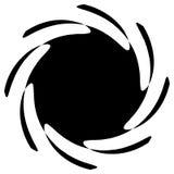 Kontur av abstrakt begreppspiralform, beståndsdel Roterande abstrakt kvickhet Royaltyfri Fotografi