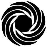 Kontur av abstrakt begreppspiralform, beståndsdel Roterande abstrakt kvickhet Arkivbilder