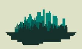 Kontur av byggnadsvektorn stock illustrationer