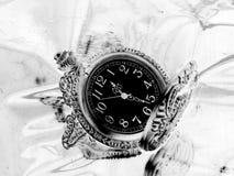 Kontur av den gamla klockan Royaltyfri Foto