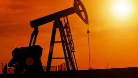 Kontur av den olje- pumpen lager videofilmer